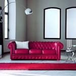 11-canapea din piele rosie clasica Chesterfield decor living modern