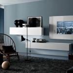 11-corpuri moderne suspendate pe perete living minimalist
