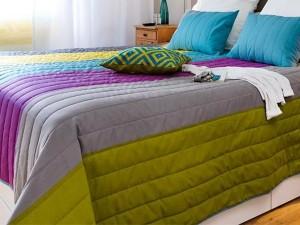 11-cuvertura colorata pat dormitor modern dupa renovare