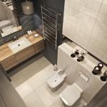11-decor baie moderna minimalista finisata in alb negru si dotata cu mobila din furnir de lemn