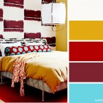 11-decor dormitor in galben mustar rosu si bleu