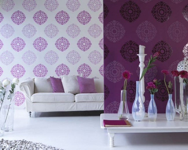 11-decor living modern in alb si violet