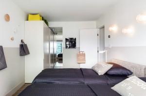11-dormitor cu doua paturi apartament cu 4 camere Vancouver Canada