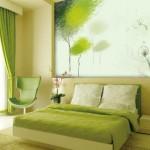 11-dormitor modern decorat in tonuri de verde pal
