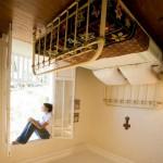 11-dormitor rustic casa cazuta din cer creatie artist jean francois fourtou