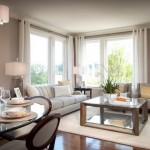 11-draperii albe decor living modern cu accente clasice pereti gri