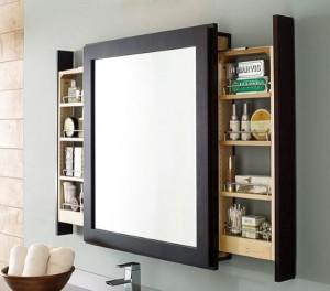 11-dulap de perete cu oglinda si sertare laterale decor baie mica