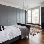 11-dulapuri haine dormitor asortate cu peretii gri