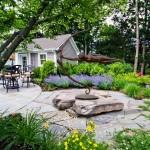 11-exemplu de grupare a florilor si plantelor in gradina de langa casa