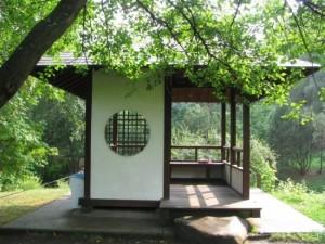 11-foisor in stil asiatic din lemn pentru curte