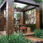 11-foisor modern metalic cu decupaje decorative