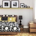 11-fotografii inramate decor perete de la capul patului din dormitor
