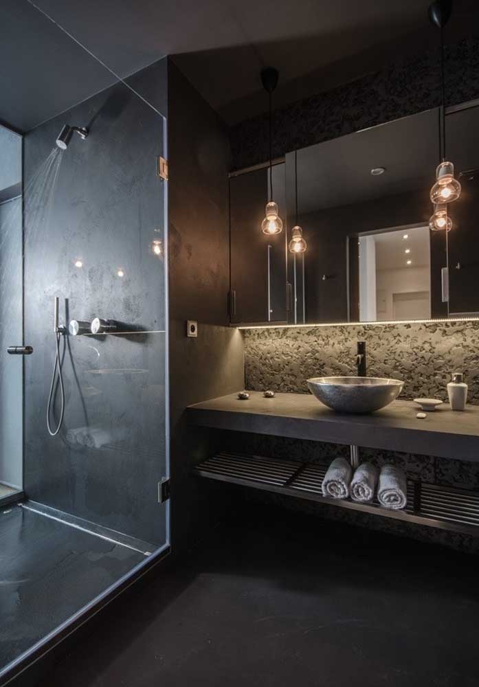 11-iluminat decorativ baie de lux neagra