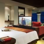 11-lift pentru televizor integrat in comoda la picioarele patului din dormitor