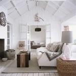 11-living rustic amenajat in alb accente cromatice maro