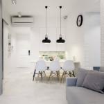 11-living si bucatarie open space cu mobila alba solutie amenajare apartament mic