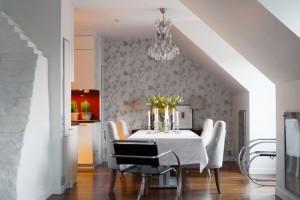 11-loc de luat masa amenajat intre living si bucatarie apartament 4 camere Stockholm