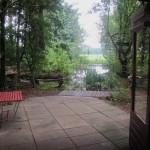 11-mic iaz in fata casei de vacanta in forma de iurta Olanda