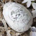 11-oua vintage pentru Paste decorat cu hartie de impachetat