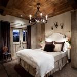 11-pat moale si pufos decor dormitor amenajat in stil rustic