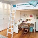 11-pat supraetajat cu birou in partea inferioara decor living apartament mic