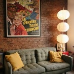 11-perete din caramida aparent decor living amenajat in stil pop art