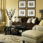 11-pernute decorative crem doua modele pe o canapea maro