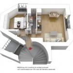 11-plan 3d apartament 2 camere mic 33 metri patrati