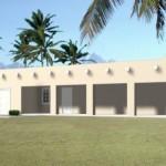 11-proiect casa stil mediteranean modern doar parter cu garaj 63 mp