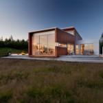 11-proiect minimalist de vis modern casa cu perete din sticla