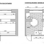 11-schita bucatariei si configurarea mobilierului