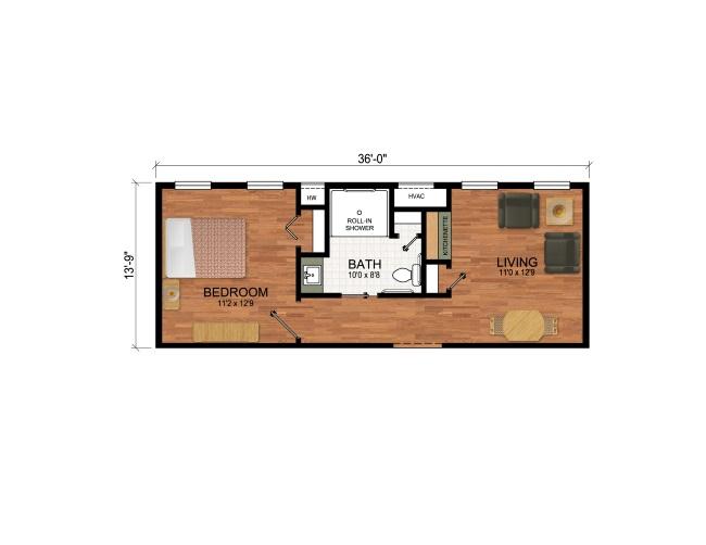 11-schita compartimentare interioara apartament Fox Dell Suite
