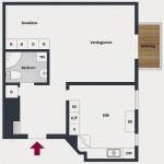11-schita plan apartament de 48 mp