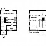 11-schita plan casa veche din lemn cu parter si mansarda