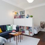 11-separare dormitor de living in garsoniera amenajata open space