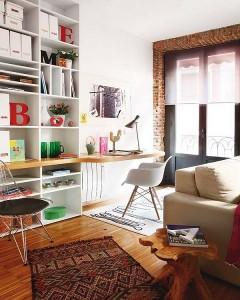 11-spatiu de lucru living apartament Madrid
