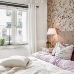 11-tapet decorativ gri si violet decor dormitor