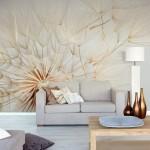 11-tapet decorativ papadie mare suflata de vant decor perete living dormitor sau loc de luat masa