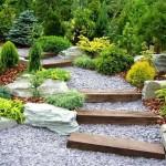 11-trepte din lemn si pietris decor gradina japoneza