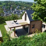 11-vedere din spatele casei spre oraselul Yport Normandia Franta