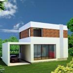 11-vedere spate casa mica moderna cu etaj suprafata totala 50 mp