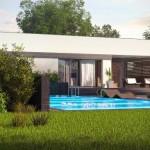 11-vedere spate proiect casa design modern stil mediteranean cu garaj