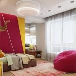 12-amenajare camera copil in gri galben si rosu