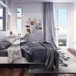 12-amenajare in nuante de gri dormitor matirmonial modern