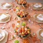 12-aranjament festiv somon cu lalele colorate pentru masa de Pasti
