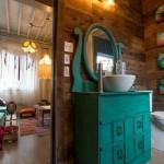 12-baie de serviciu de la etajul casei din containere