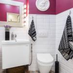 12-baie moderna cu aspecte vintage cu vas wc suspendat