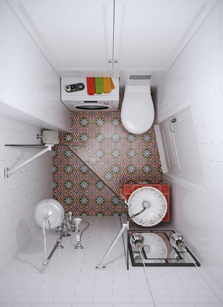 12-baie moderna cu cabine de dus si gresie model oriental