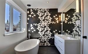 12-baie moderna decorata in alb gri si negru