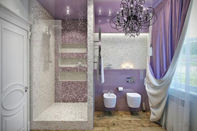 12-baie moderna in nuante de violet si gri